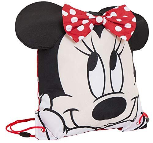 Girls Disney 3D Minnie Mouse Drawstring Gym Bag Novelty Swimming PE Kit Backpack