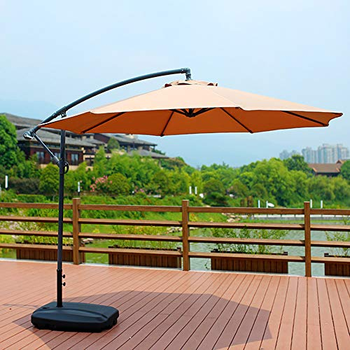 PARASOL, Garden Swimming Pool, Banana Umbrella Hand Crank Roman Umbrella, For Beach And Courtyard, With 60KG Water Injection Or Sand Base