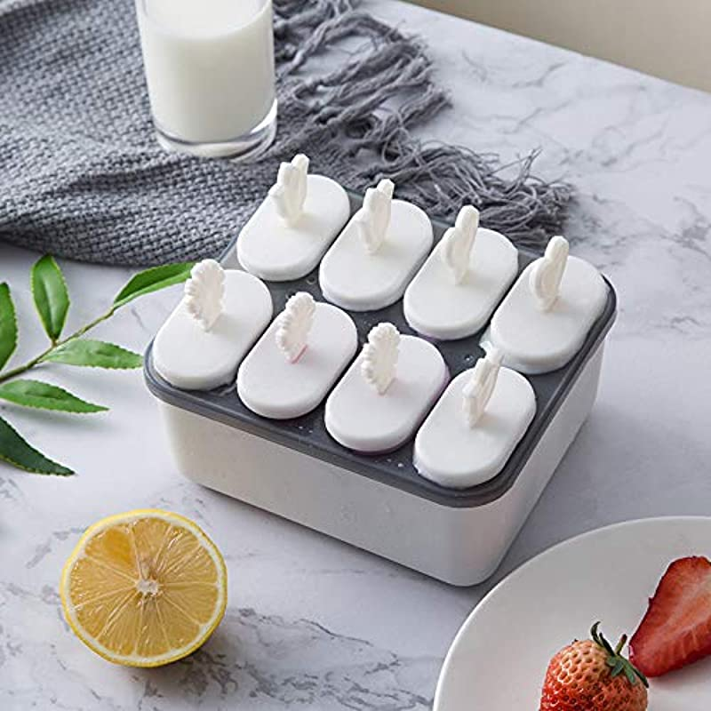 Popsicle Ice Mold Maker Set 8 Pack No BPA Reusable Ice Cream DIY