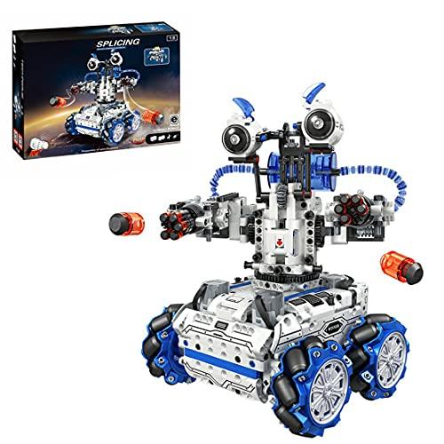 Tewerfitisme Juego de construcción de 1084 piezas 2 en 1, mando a distancia, moldeable, robot de combate Monster Truck para niños, compatible con Lego Technic