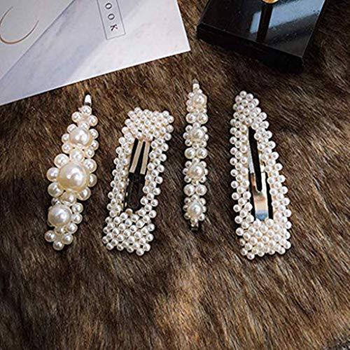 Accesorios de decoración para el hogar, accesorios de las mujeres perla diamante clip de pelo horquilla pasador peine accesorios clip de pelo ramadan multicolor