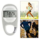 Maizad 3D Pedometer with Clip, Portable Walking Step Counter for Men Women Kids
