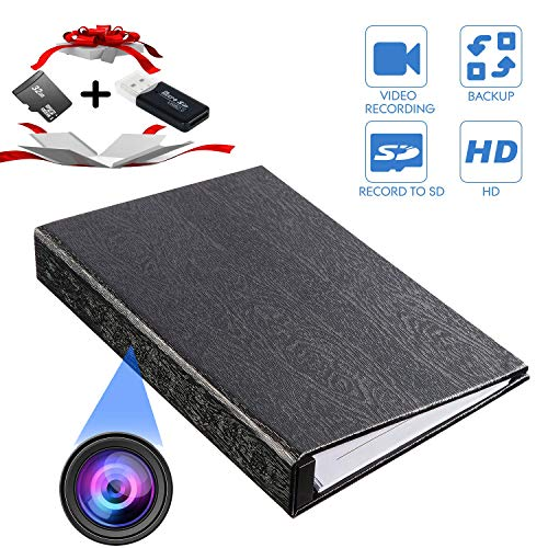 YTVISON Hidden Camera 1080P HD Book Battery Powered Camera Spy Cam Video Recorder- Loop Recording with 32GB Pre-Installed Surveillance Camera for Home...