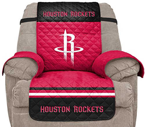 Pegasus Sports NBA Houston Rockets Unisex Nbanba Furniture Protector with Elastic Straps, Red, Recliner