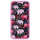 Hapdey Funda Rosa para [ Bq Aquaris U - U Lite ] diseño [ Patrón Brillante de Elefantes Rosados y Rojos ] Carcasa Silicona Flexible TPU