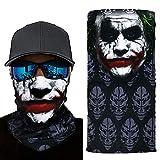 welltop Joker Seamless Bandanas Face Mask, Multipurpose Face Sun Mask