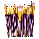 15 Unids Maquillaje Pincel Set Cosmetict Maquillaje Para La Cara Maquillaje Herramientas Mujeres Belleza Fundación Blush Sombra De Ojos Consealer T07-15pcs