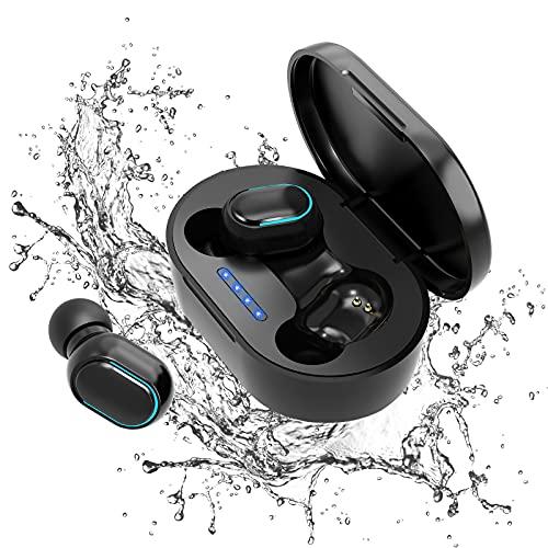 Auriculares Bluetooth 5.0 con cancelación de ruido, auriculares deportivos IPX7, auriculares estéreo, impermeables, micrófono HD integrado, para Android e iOS