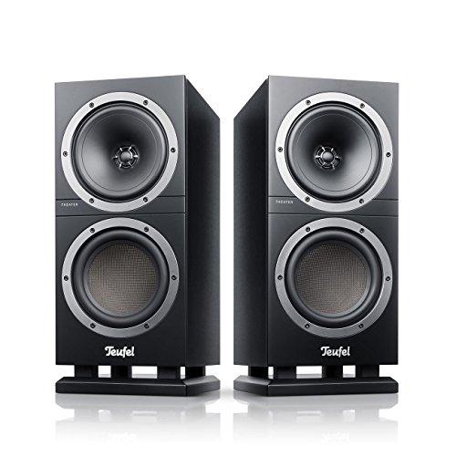 Teufel Theater 500S Schwarz Stereo Lautsprecher Musik Sound Hochtöner Mitteltöner Bass Speaker High End HiFi Tieftöner Schalldruck Soundanlage
