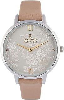 a7d0833927b94 Montre Femme Charlotte Raffaelli à Quartz Cadran Blanc 36mm Et Bracelet  Argenté en PU CRS18036