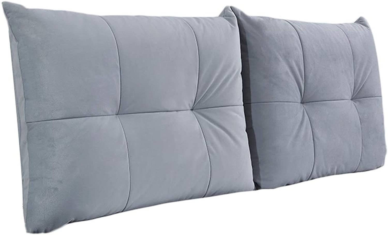 WENZHE Upholstered Headboard Pillow Bedside Cushion Wedges Backrest Waist Pad Soft Backrest Home Bedroom Waist Belt Pillow Washable Simple, 6 colors (color   A, Size   90x60cm)