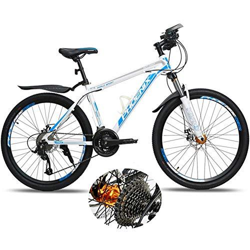 LXDDP 26 in Mountain Bike, Bicicletta Unisex in Acciaio al Carbonio per Esterni, Biciclette MTB a Sospensione Completa, Biciclette con Doppio Freno a Disco, Ammortizzatore