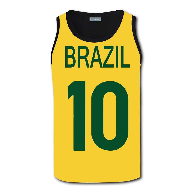 JR #10 Brazil Soccer Number タンクトップ 3Dノースリーブ タンク メンズ タンクトップ スポーツ 夏 ファッション