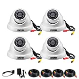 ZOSI 4 Pack 1080p Dome Security Camera Kit (Hybrid 4-in-1 HD-CVI/TVI/AHD/960H Analog CVBS),2.0MP (1920TVL) Day Night Weatherproof Surveillance CCTV Camera Outdoor Indoor, Night Vision Up to 65FT(20M)