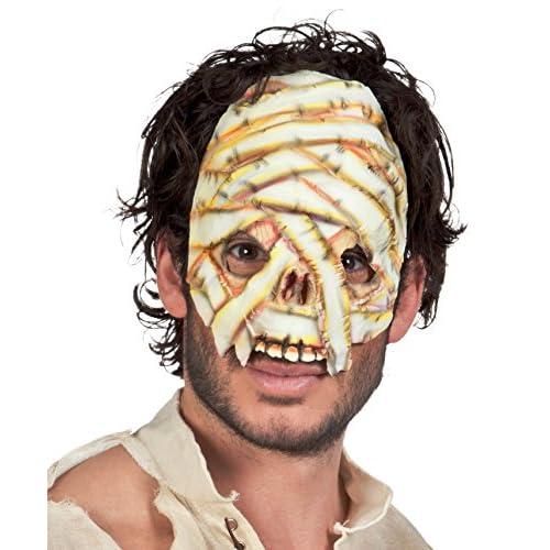 Boland- Maschera Mummia Mezzo Viso in Lattice per Adulti, Bianco, Taglia Unica, 74578