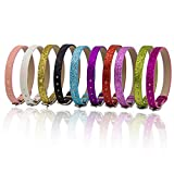 AUEAR, 20 Pack 8mm Wristbands Bracelets for 8mm Slide Letters Mix Colors for Jewelry Making DIY Craft 10 Colors (PU Leather Slide)