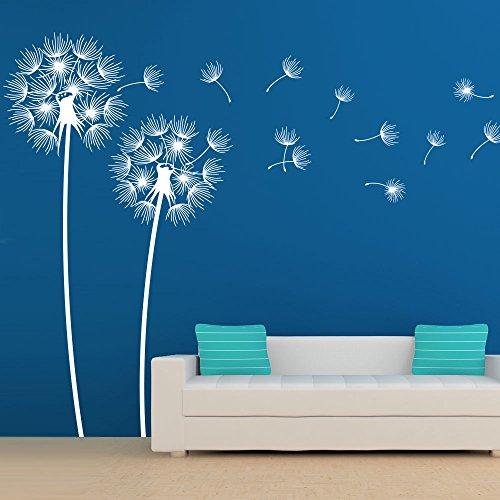 KLEBEHELD® Wandtattoo Pusteblumen im Wind Größe 100cm, Farbe schwarz