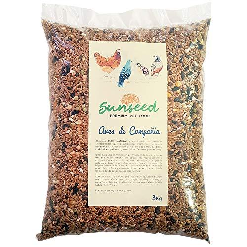 Sunseed Alimento para Aves de compañía y competición, Palomas, perdices, gallinas, Gansos, faisanes y Otras Aves de Granja 3 Kg