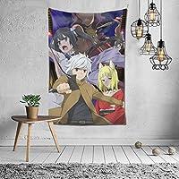 ダンジョンに出会いを求めるのは間違っているだろうか?2 タペストリー オシャレ 3 D印刷ウォールアート 多機能 ホーム装飾 個性 インテリア 壁飾り 背景布