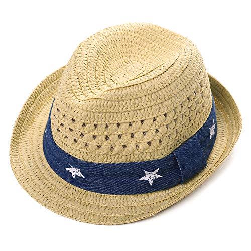 Comhats Fedora Sonnenhut für Kleinkinder, UV-Schutz, Panama, Strand Gr. 1-2 Jahre, 00742-Beige
