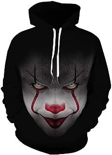 AMOMA Men Unisex Casual Halloween Christmas Series Pocket Hooded Hoodie Sweatshirt