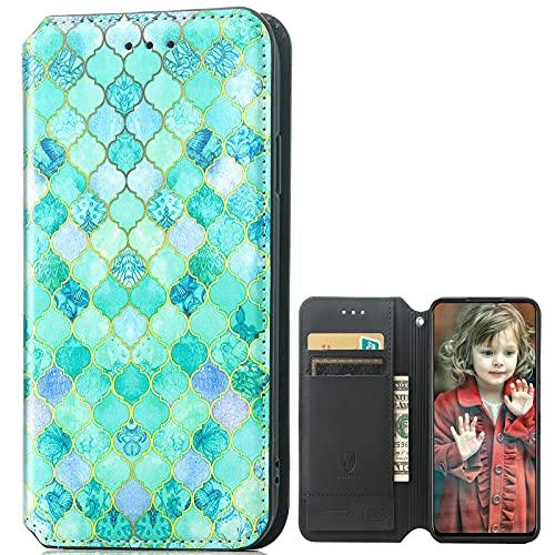 MingMing Lederhülle für Meizu 18 PRO 5G Hülle, Flip Hülle Schutzhülle Handy mit Kartenfach Stand & Magnet Funktion als Brieftasche, Tasche Cover Etui Handyhülle für Meizu 18 PRO 5G, CH01