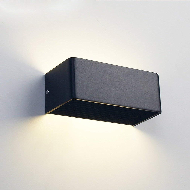 FDA3H Moderne 9W LED Wandleuchte Aluminium Wandbeleuchtung Wohnzimmer Esszimmer Schlafzimmer Kopfteil Halle Wandleuchte Elegantes Design Rechteck Dekorative Innenbeleuchtung W20CM  H10cm Warm Light 3