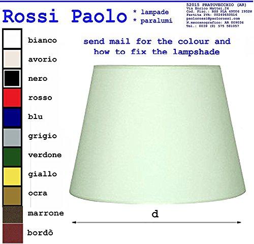 Paralume Tronco Cono Moderno in Tessuto e PVC - Produzione Propria - Made in Italy (cm 25)