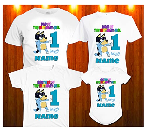 Bluey Bandit Family Matching Shirts ***ALL PARTY THEMES*** Bluey Family