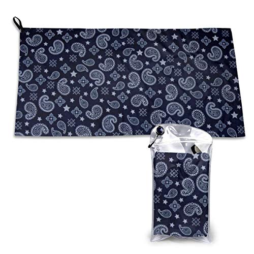 Creative Drop Shape Stars Flowers Camping Towel-Ultra Soft Compact Quick Dry Microfiber Best Fitness Beach Hiking Yoga Travel Sports Backpacking & The Gym Fast Drying & Free Bonus Washcloth Hand Towel