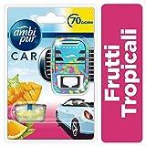 AMBI PUR 8001090154675 Frutas Tropicales Difusor Y Fragancia para Ambientador De Clip para Coche, Blanco