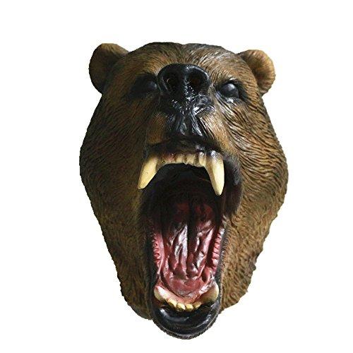 HENGYUTOYMASK Feestbeest kostuum latex grizzly beer hoofdmasker