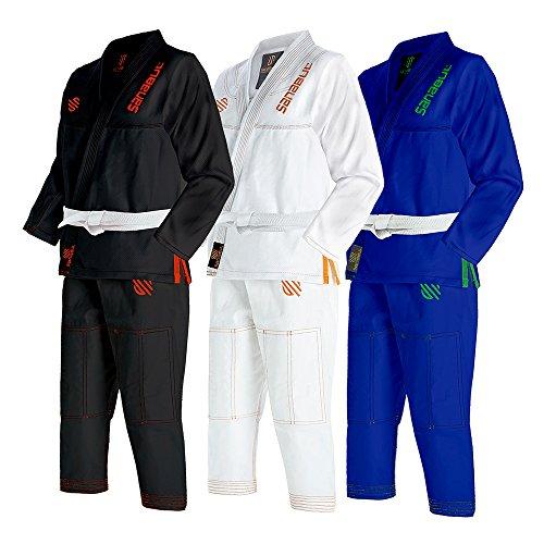 Sanabul Kids Highlights Brazilian Jiu Jitsu BJJ Gi (Black, K2)