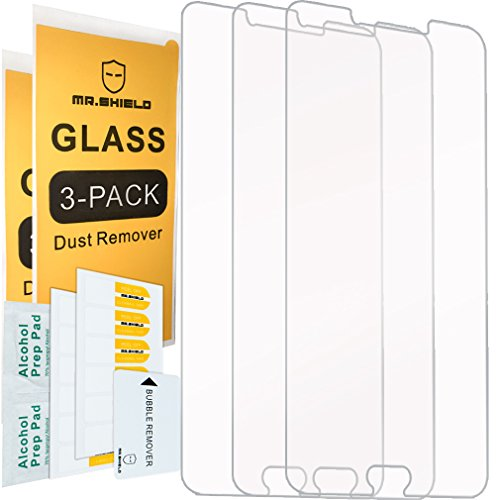 [3-PACK]- Mr.Shield Designed For Samsung Galaxy C9 Pro [Tempered Glass] Screen Protector [0.3mm Ultra Thin 9H Hardness 2.5D Round Edge] with Lifetime Replacement