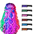 New Hair Chalk Comb Temporary Bright Hair Color Dye for Girls Kids, Washable Hair Chalk for Girls Age 4 5 6 7 8 9 10 New Year Birthday Party Cosplay DIY Children's Day, Halloween, Christmas,6 Colors from Master-Ed
