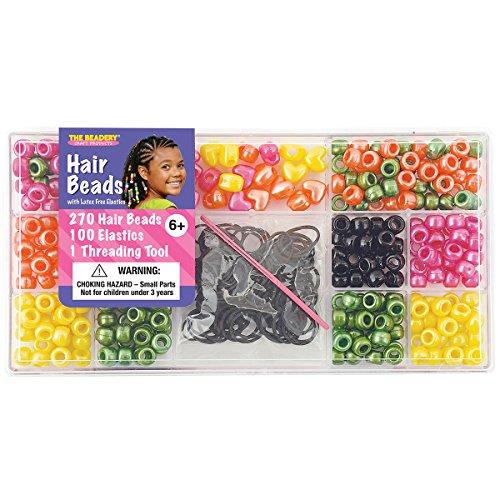 Beadery - Kit di Perline per Capelli in plastica, Misura Grande