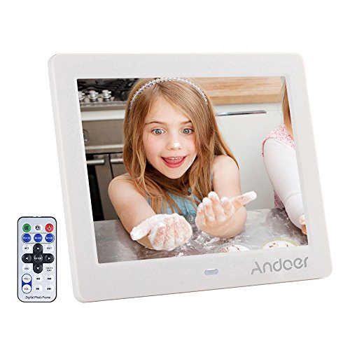 Photo of Digital Photo Frame 8 inch, Andoer HD Wide Screen High Resolution with Remote Control Electronic Picture Frames(8 inch White)