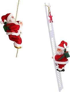 2pcs Electric Animated Climbing Santa Claus (Climbs Up and Down) Xmas Decor