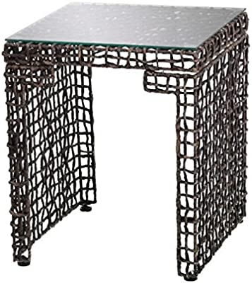 Amazon.com: Hexagonal Bone Inlay mesa auxiliar: Kitchen & Dining