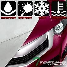 Topline Autopart 4700MM (185 Inch L x 71 In W x 59 In H) 4 Layers Universal Waterproof Car Cover + Mirror Pocket