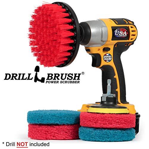 Drill Brush - reinigingsproducten - binnen - badkameraccessoires - tegels - voegenreiniger - douchereiniger - badkuip - badmat - borstel - porselein - buiten - tuin - terras - deck brush - graniet