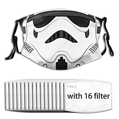 Stormtrooper Cliparts Reusable Mouth Mask Comfort Adjustable Face Cover for Sport,Back College,Shopping
