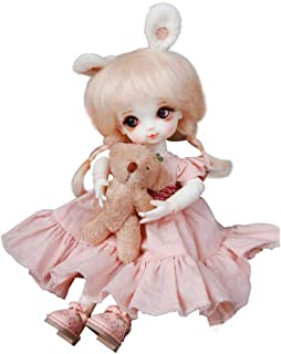 MEMIND 1/8 Bjd Doll Fashion Doll Coca Lovely and Refined Doll 17cm Secondary Element Rabbit Doll Child Playmate Girl Toy Doll Christmas Birthday Gift