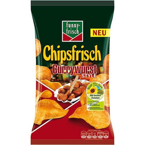 10 große Tüten Funny Frisch Chips a 175g Currywurst Style curry Wurst