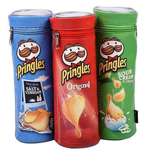 Federmäppchen mit Pringles-Design von Helix, 3 Stück