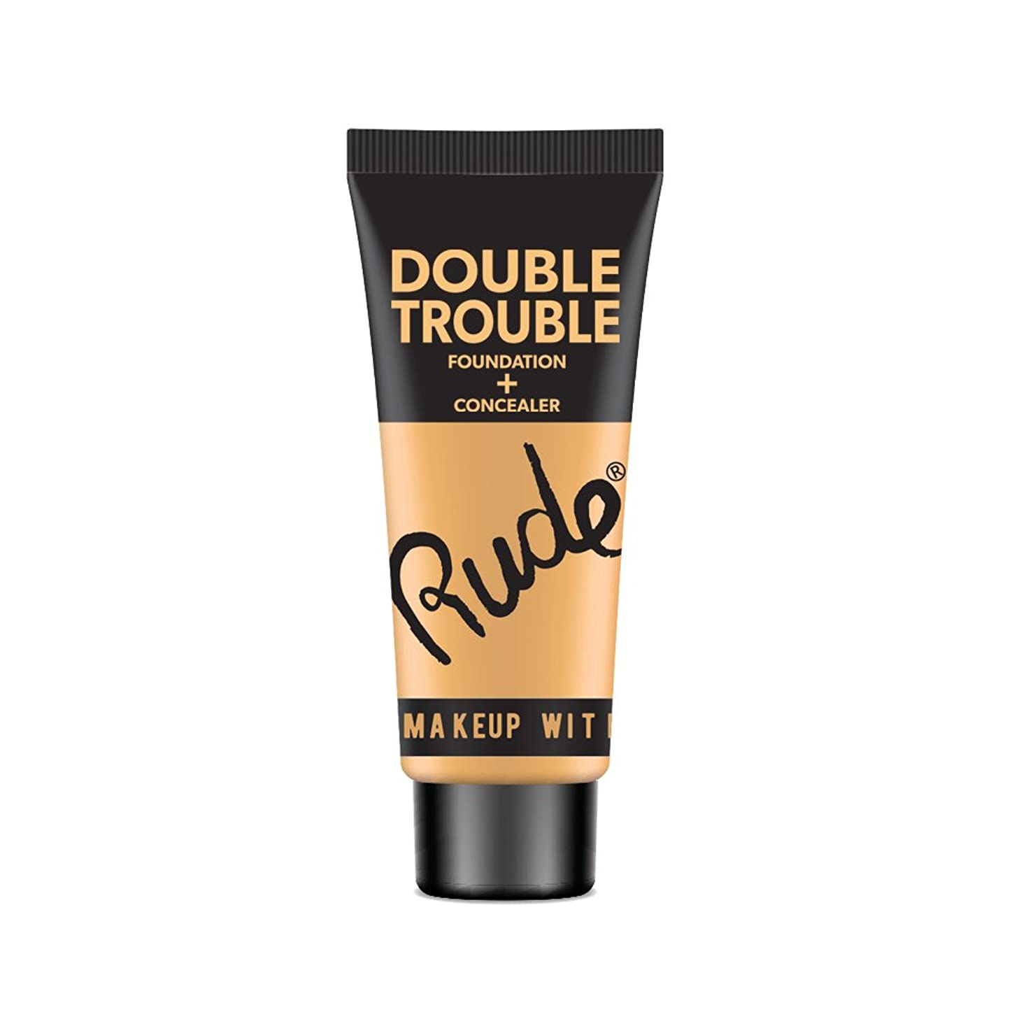 役に立たない習熟度タイプライターRUDE Double Trouble Foundation + Concealer - Linen (並行輸入品)
