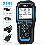 FCAR 2 in 1 Heavy Duty Truck Scanner, Full Systems Diesel Trucks Diagnostic Tool with Forced Regen & Oil Light Reset for Hino Isuzu Fuso UD, OBD2 Scanner & HD Truck Freightliner Scanner