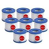 ZBCN Filtro para bombas de piscina Bestway VII e Intex D, repuesto para filtro de piscina hinchable (10,7 x 9,5 cm) (8)