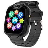 Kids Smart Watch for Boys Girls-Kids Phone Smartwatch with Calls 14 Games S0S Camera Video Music Player Clock Calculator Flashlight Touch Screen Children Smart Watch Gifts for Kids Age 4-12 (Black)