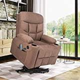 Artist Hand Electric Power Lift Recliner, Lift Massage Chair for Elderly Pregnantly, Living Room Sofa Chair with 8 Point Massage, Lumbar Heated,USB Charging Port